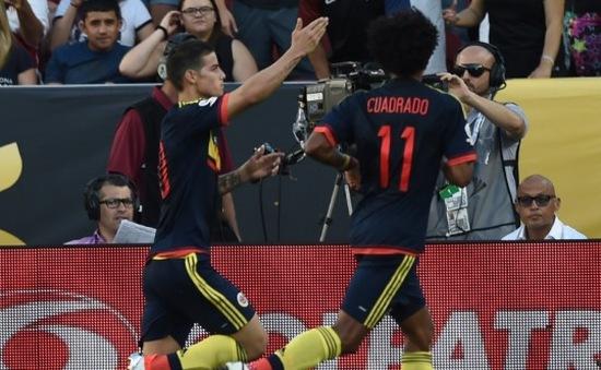 VIDEO: James Rodriguez lập công, Colombia giành 3 điểm trong trận khai mạc Copa America