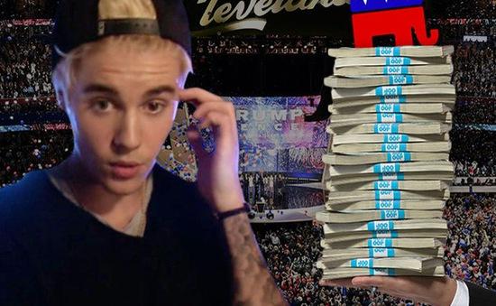 Justin Bieber từ chối biểu diễn trong Đại hội đảng Cộng hòa