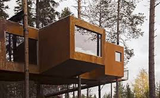 Khám phá khách sạn trên cây Tree Hotel cực độc đáo ở Thụy Điển