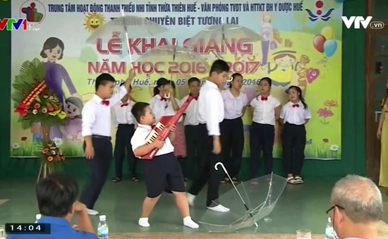 Lễ khai giảng đặc biệt của các em khuyết tật TP Huế