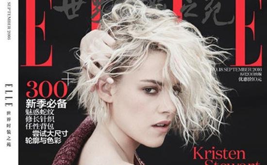 Kristen Stewart cực cá tính trên bìa tạp chí Elle