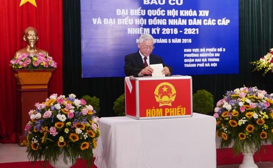 Tổng Bí thư dự lễ khai mạc bầu cử tại Ủy ban Biên giới quốc gia