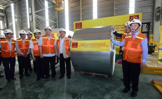 Nhà máy Hoa Sen Nghệ An cho ra lò cuộn tôn thương phẩm đầu tiên