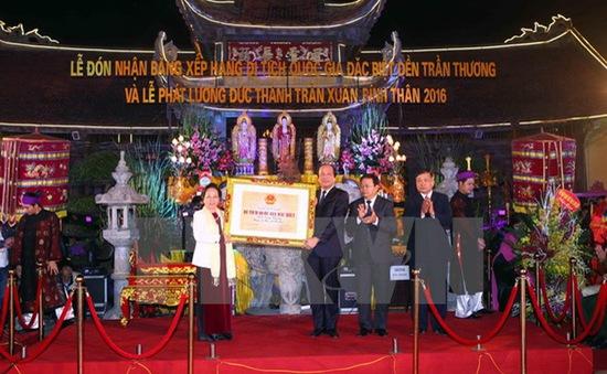 Lễ đón bằng xếp hạng Di tích Quốc gia đặc biệt Đền Trần Thương