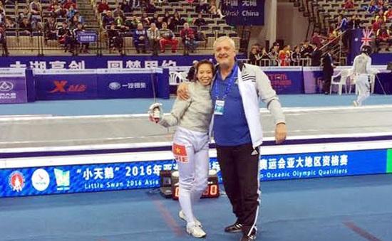 Kiếm thủ Nguyễn Lệ Dung giành vé tham dự Olympic 2016