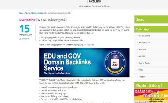 Các trang mạng gov.vn đang bị trục lợi một cách tinh vi