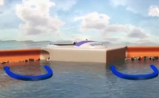 Thử nghiệm thiết bị thu rác trên biển
