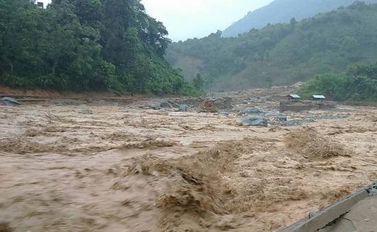 Người dân Lào Cai liều mình vớt gỗ trong mùa mưa lũ