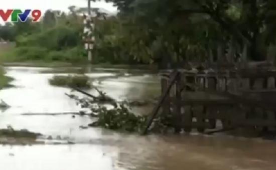 Đăk Lăk ngập lụt, chia cắt giao thông do áp thấp nhiệt đới