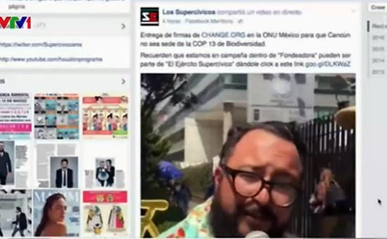 Mexico dùng mạng xã hội phản ánh thực trạng xã hội