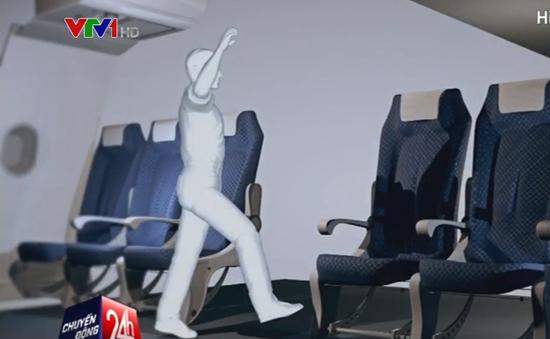 Cảng vụ miền Bắc xử phạt hành khách đá hỏng ghế máy bay