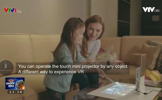 Lazertouch – Máy chiếu mini biến mặt phẳng thành màn hình tương tác