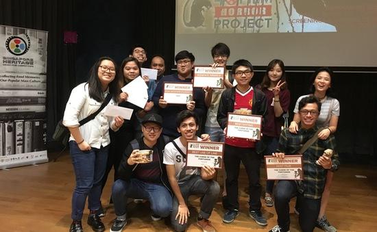 Sinh viên Việt Nam giành giải tại cuộc thi làm phim quốc tế ở Singapore