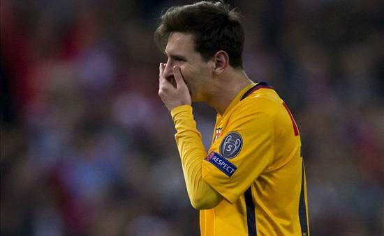 Messi tịt ngòi lâu nhất trong 6 năm qua
