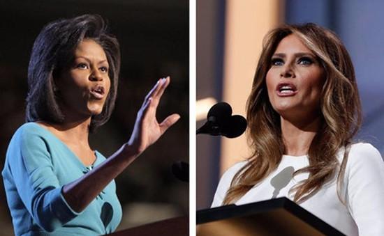 Sự giống nhau trong phát biểu của bà Melania Trump và đệ nhất phu nhân Mỹ Michelle Obama