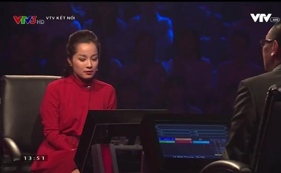 """""""Vàng Anh"""" Minh Hương, Châu Đăng Khoa ngồi ghế nóng Ai là triệu phú số Tết"""