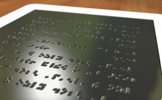 Máy tính bảng cho người khiếm thị sắp không còn là chuyện viễn tưởng