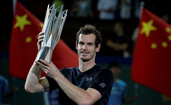 Vượt qua Agut, Andy Murray vô địch Thượng Hải Masters 2016