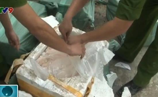 Lạng Sơn: Thu giữ 500kg nầm lợn Trung Quốc nhập lậu