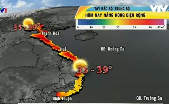 Nắng nóng ở miền Bắc và miền Trung lên tới 39-40 độ