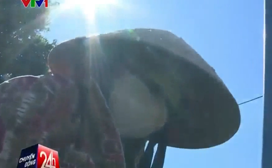 Người lao động Quảng Trị phơi mình dưới nắng gắt 40 độ