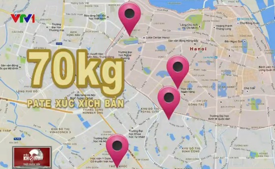 Pate, xúc xích bẩn tràn lan tại các hàng ăn sáng khắp Hà Nội