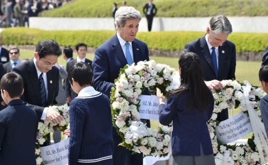 Ngoại trưởng G7 thăm Công viên Hòa bình tại thành phố Hiroshima