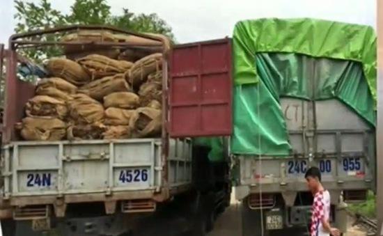 Bắt 37 tấn nguyên liệu thuốc lá nhập lậu từ Trung Quốc