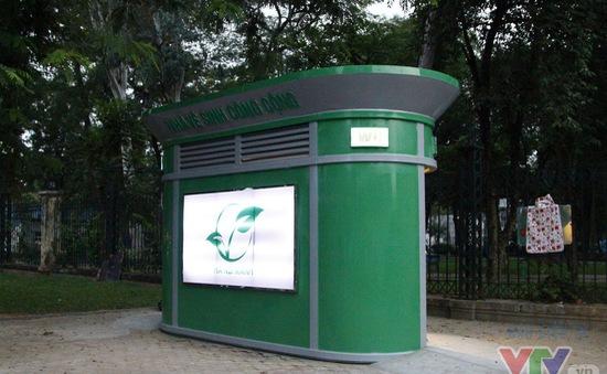 Cận cảnh nhà vệ sinh công cộng xanh, sạch, tiết kiệm ở Hà Nội