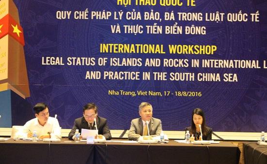 Hội thảo Biển Đông bàn về Quy chế pháp lý của đảo trong luật pháp quốc tế