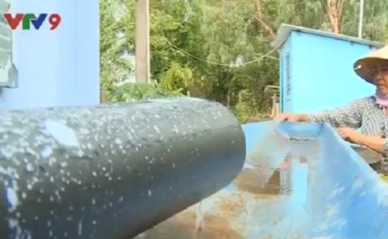 Nước mưa - Nguồn nước dự trữ quan trọng trong mùa khô tại ĐBSCL