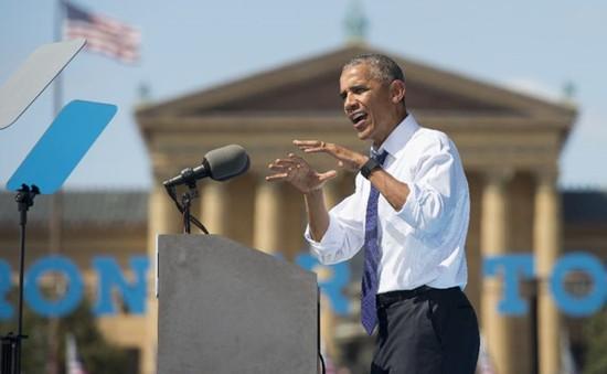 Tổng thống Barack Obama thay bà Hillary Clinton vận động tranh cử