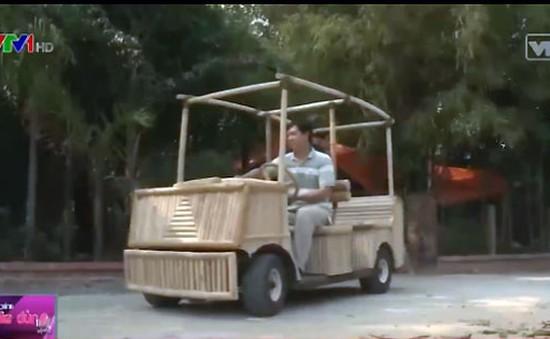 Độc đáo ô tô điện bằng… tre