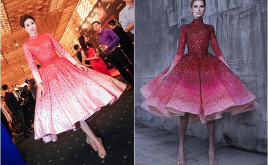 Phạm Hương đẹp rạng rỡ trong chiếc váy bị nghi hàng nhái
