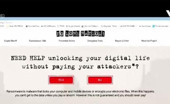 """Chống phần mềm tống tiền với """"No More Ransom"""""""