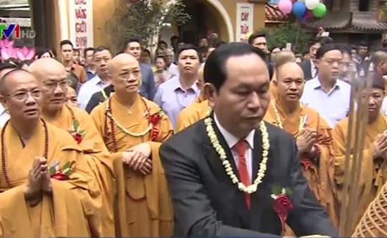 Chủ tịch nước Trần Đại Quang dự Đại lễ Phật đản tại Chùa Quán Sứ