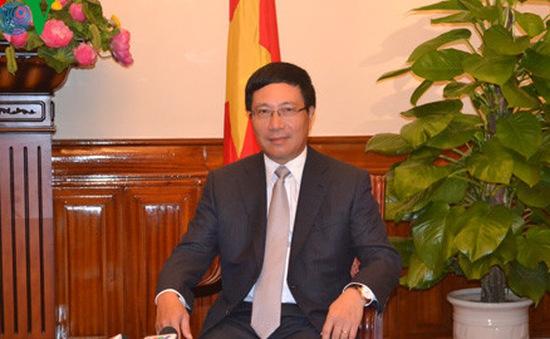 Phó Thủ tướng Phạm Bình Minh hội kiến lãnh đạo Lào