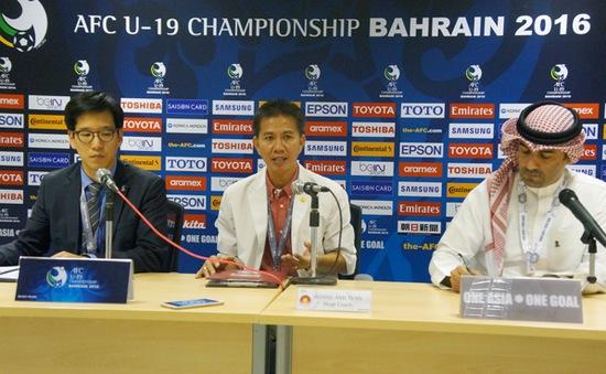 """HLV trưởng Hoàng Anh Tuấn: """"1 điểm với U19 Việt Nam cũng là một kết quả tốt"""""""