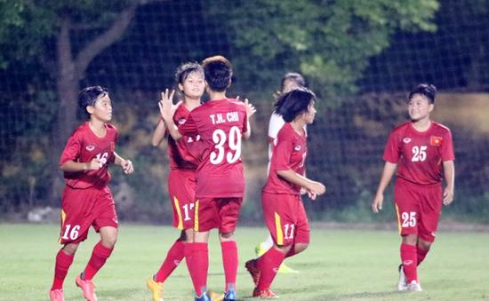 U16 nữ Việt Nam chia tay vòng loại giải châu Á 2017 bằng trận thắng 5-0