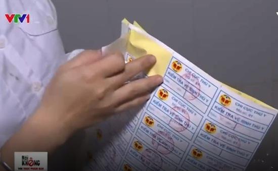 Tạm đình chỉ 2 cán bộ vi phạm quy trình kiểm soát tem kiểm tra vệ sinh thú y