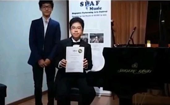 "Hai tài năng Piano Việt Nam dự ""Singapore Performing Arts Festival 2016"""