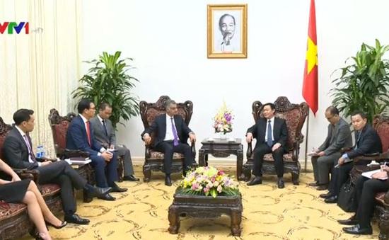PTT Vương Đình Huệ tiếp Tổng giám đốc Ngân hàng Standard Chartered Việt Nam