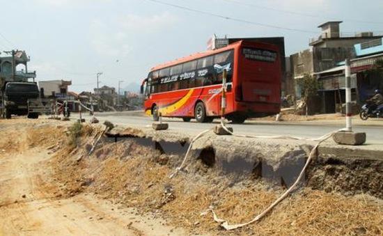 Nhà dân bị nứt do thi công quốc lộ 1A ở Phú Yên được hỗ trợ
