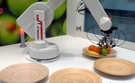 Cánh tay robot thu hoạch trái cây
