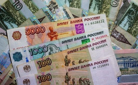 Đồng Ruble Nga mất giá mạnh, hạ xuống mức kỷ lục mới