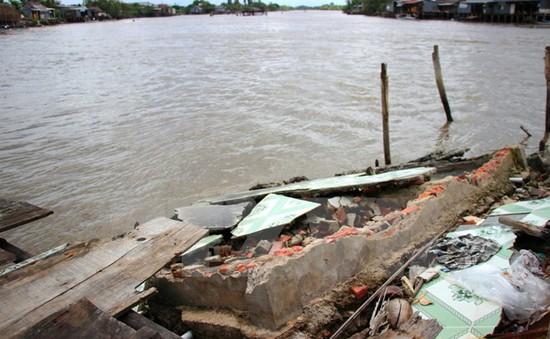 Sạt lở bờ sông Tiền ở Đồng Tháp gây thiệt hại hơn 100 triệu đồng