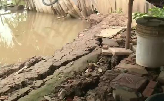 Nhiều nhà dân bị sạt lở do thi công kênh xáng Bạc Liêu - Cà Mau