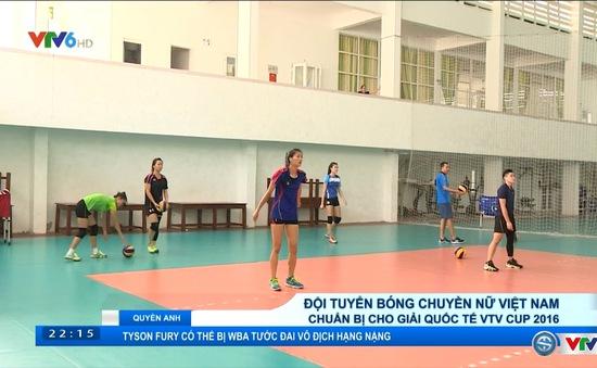 ĐT bóng chuyền nữ Việt Nam chuẩn bị cho VTV Cup  2016 - Tôn Hoa Sen