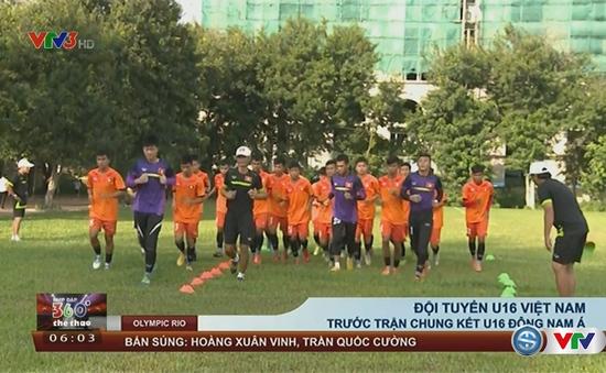 U16 Việt Nam tích cực tập luyện, thận trọng trước trận CK U16 Đông Nam Á