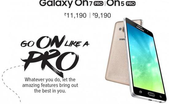 Samsung ra mắt smartphone giá rẻ Galaxy On5 Pro, Galaxy On7 Pro tại Ấn Độ